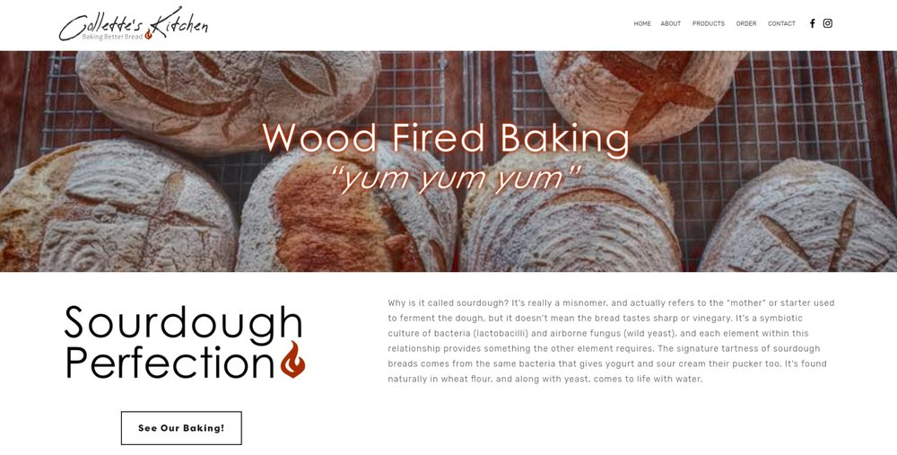 New website for Collette's Kitchen