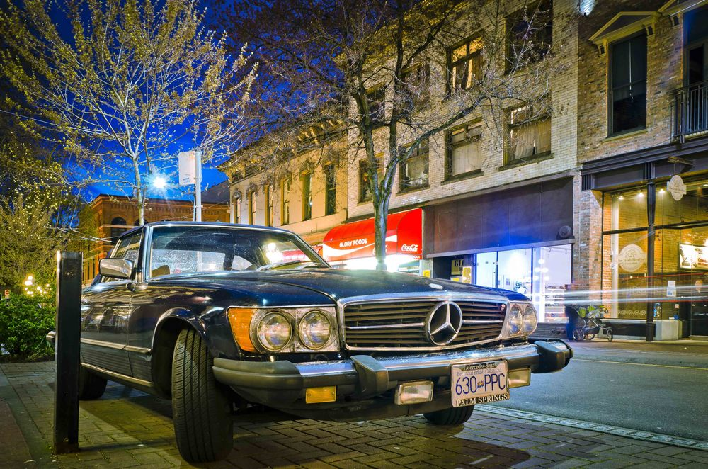 Mercedes on the streets of Gastown.