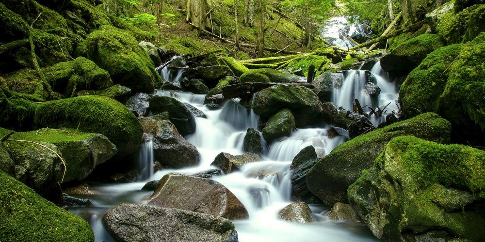 Eaton Lake Hike, Chilliwack, Cascading Waterfalls, Photo by Brett Hitchins