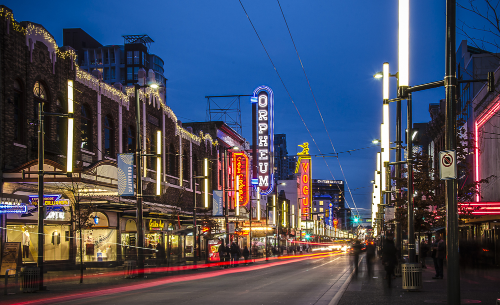 Granville Street, Vancouver, Photo by Brett Hitchins