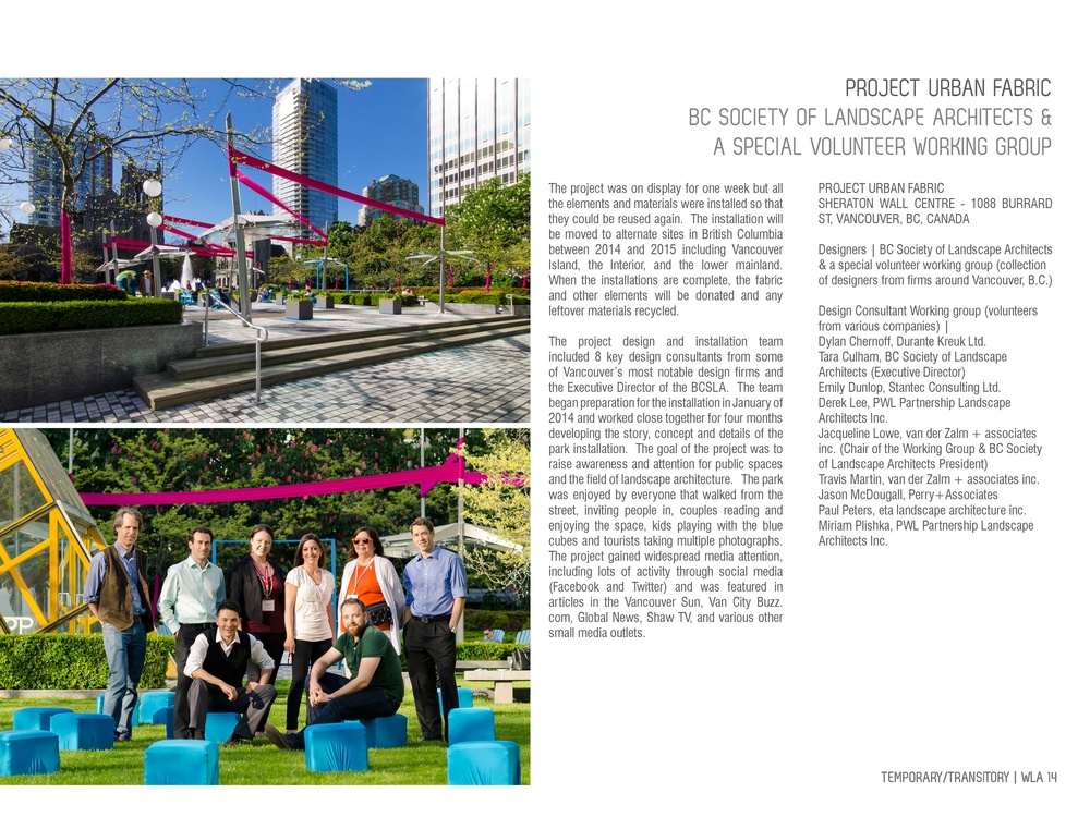 Project Urban Fabric, World Landscape Architecture spread 4, photography by Brett Hitchins