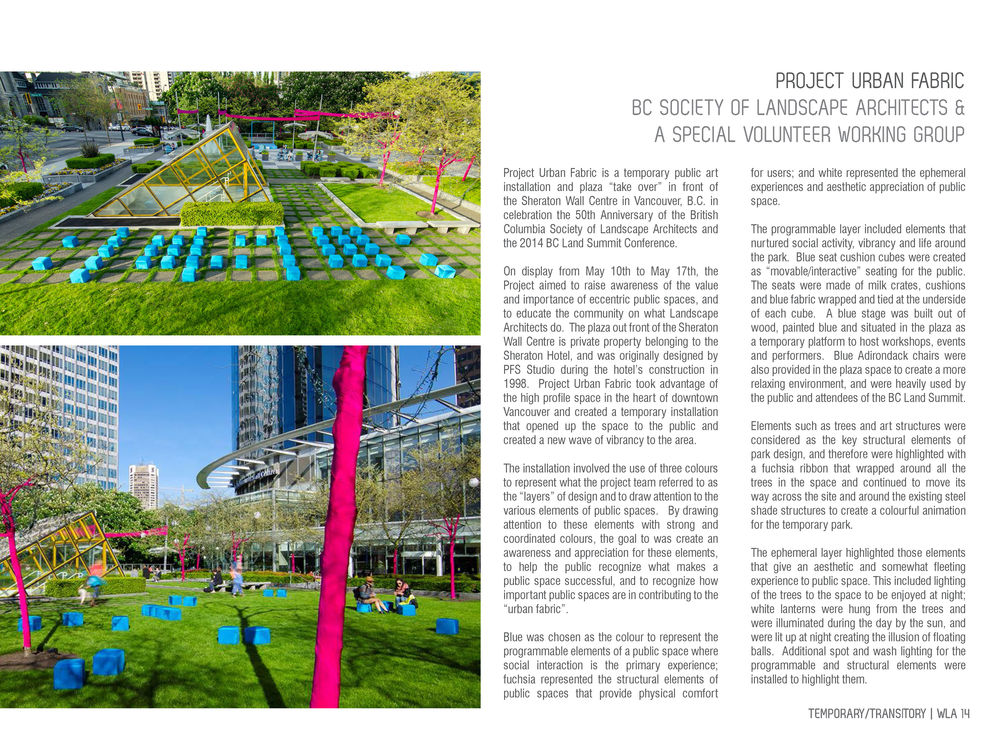 Project Urban Fabric, World Landscape Architecture spread 2, photography by Brett Hitchins