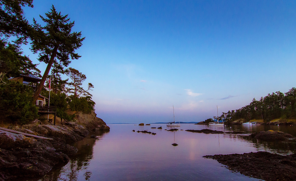Peter Cove, Pender Island,  Photo by Brett Hitchins