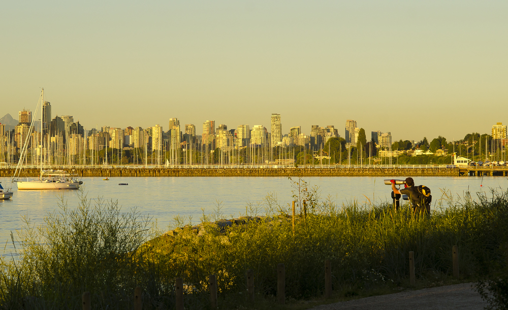 Viewscope offering views to Downtown Vancouver,  Jericho Beach   ,  Photo by Brett Hitchins