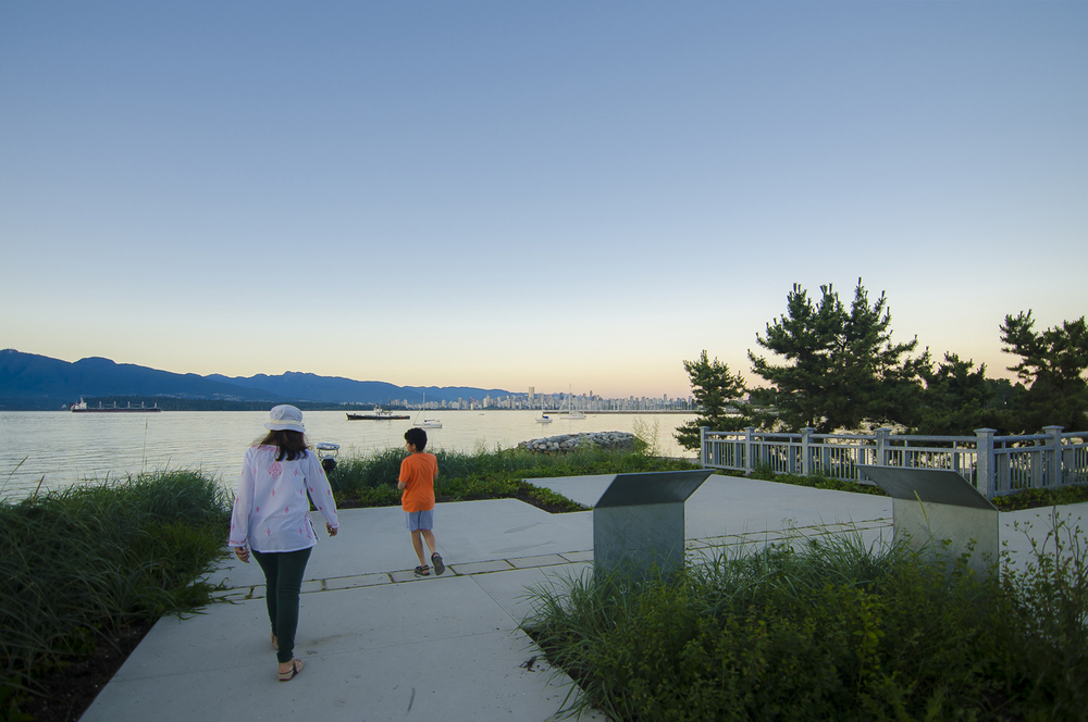 New Viewing Plaza at Dusk,  Jericho Beach   ,  Photo by Brett Hitchins