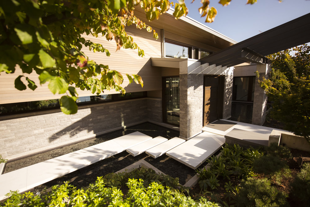 front entry at modern Vancouver home