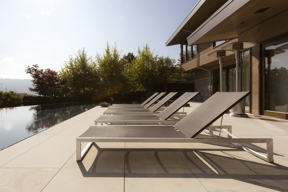 Vancouver home patio with lounge chairs