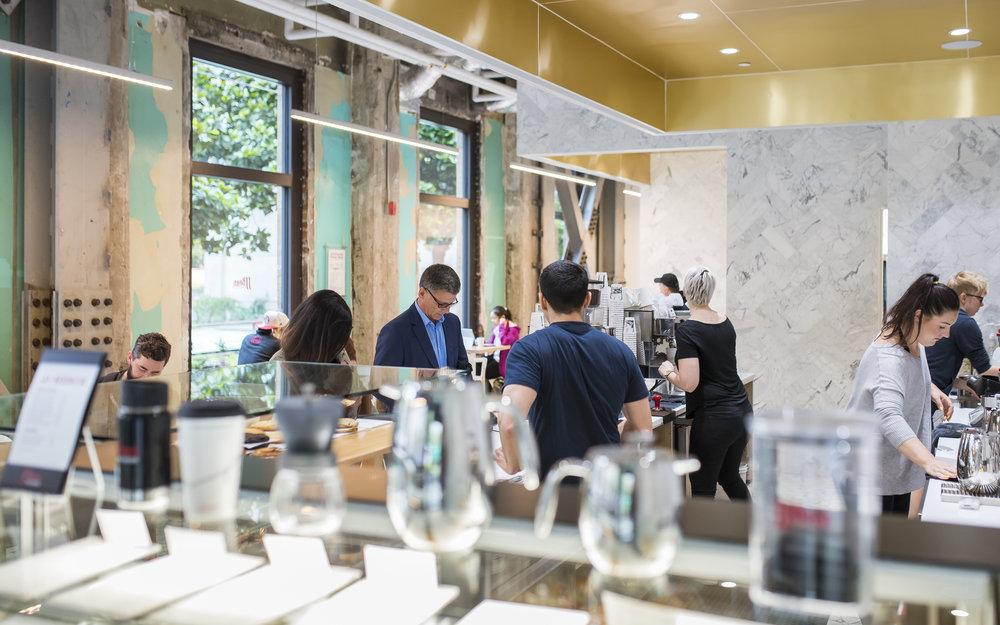 JJ Bean Dunsmuir interior coffee shop