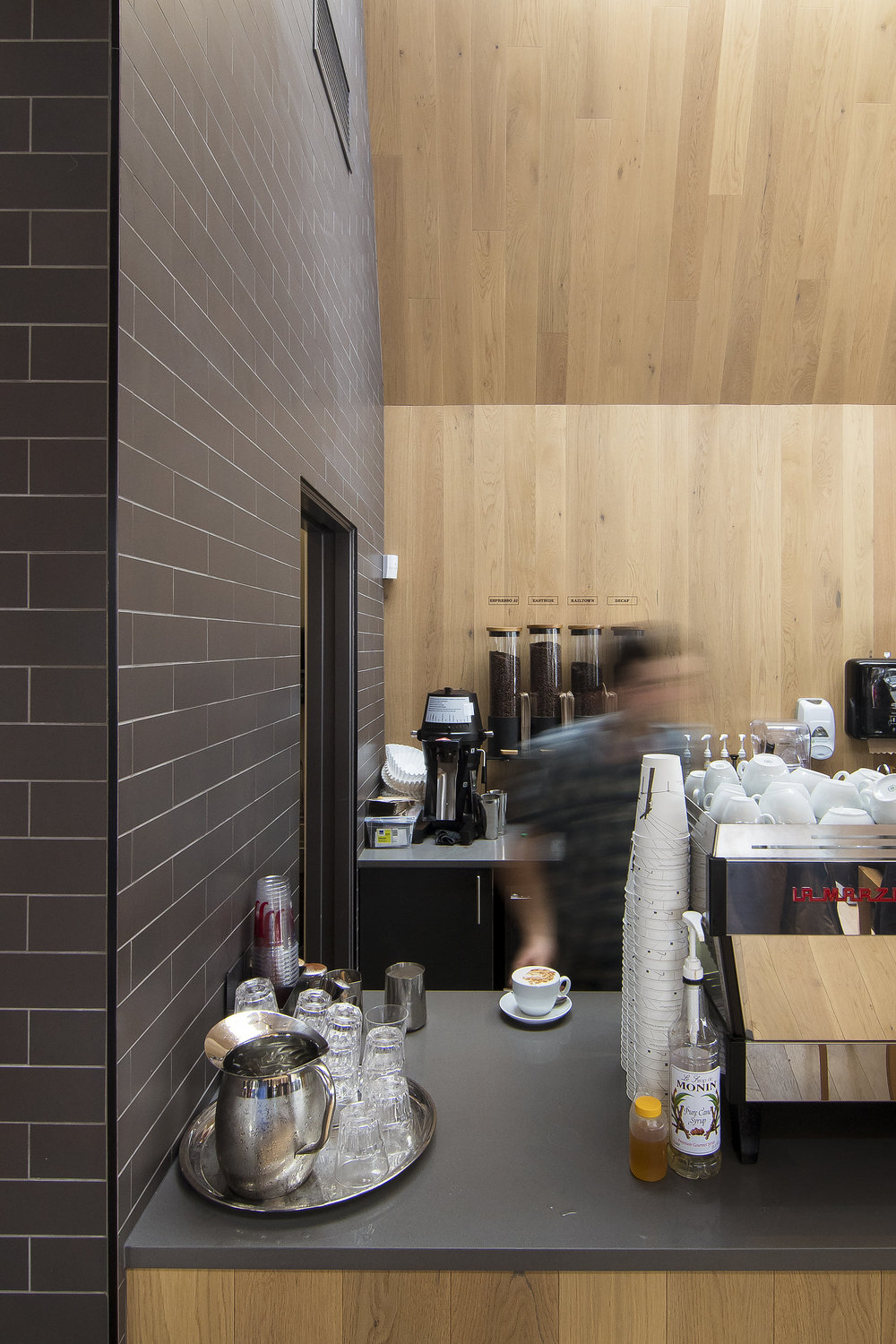 JJ Bean coffee shop Cambie Street interior architectural photography Brett Ryan Studios