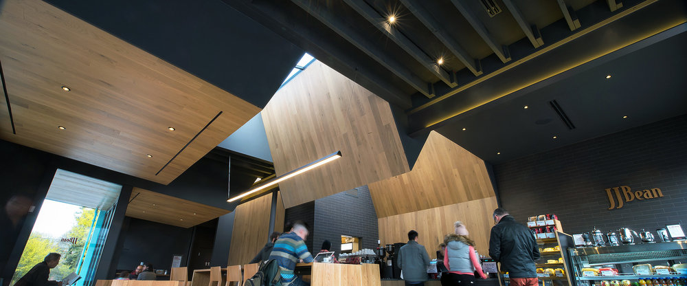 JJ Bean coffee shop Cambie Street interior architecture Dialog Brett Ryan Studios