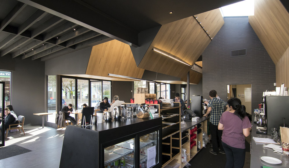 JJ Bean coffee shop Cambie Street interior Brett Ryan Studios