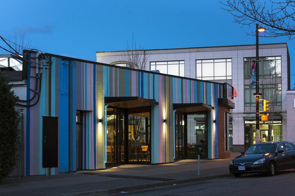 JJ Bean coffee shop Cambie Street exterior architecture Brett Ryan Studios