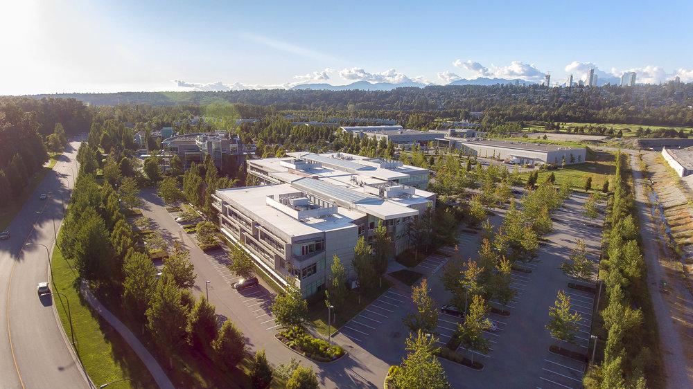 Glenlyon Business Park Vancouver exterior aerial photography drone PFS Studio