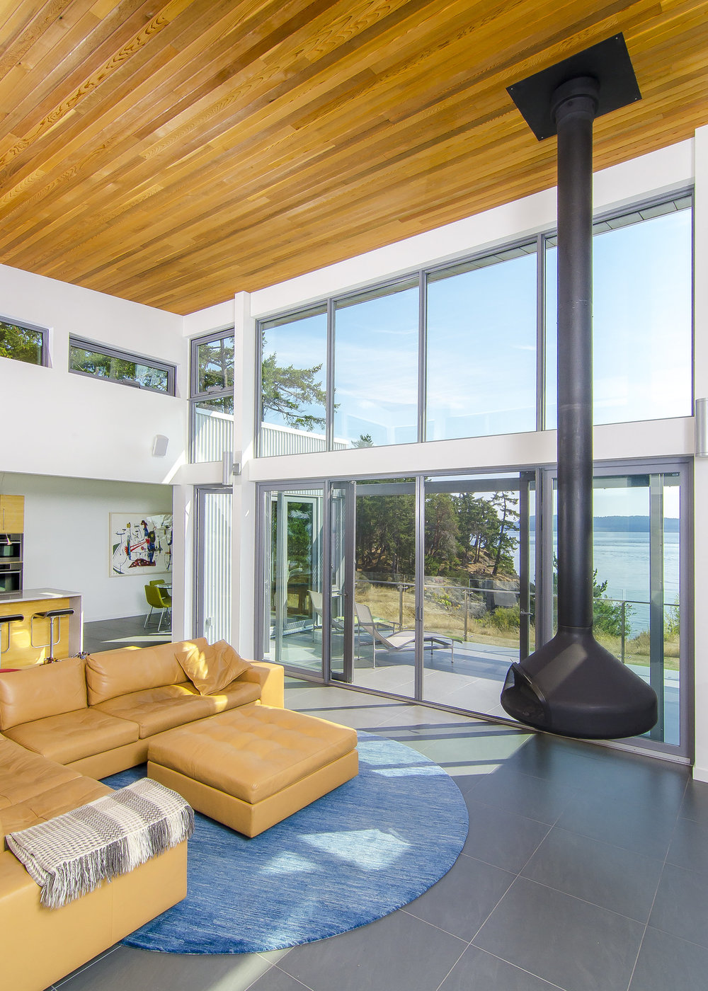 Gulf Island Private Residence architectural home interior