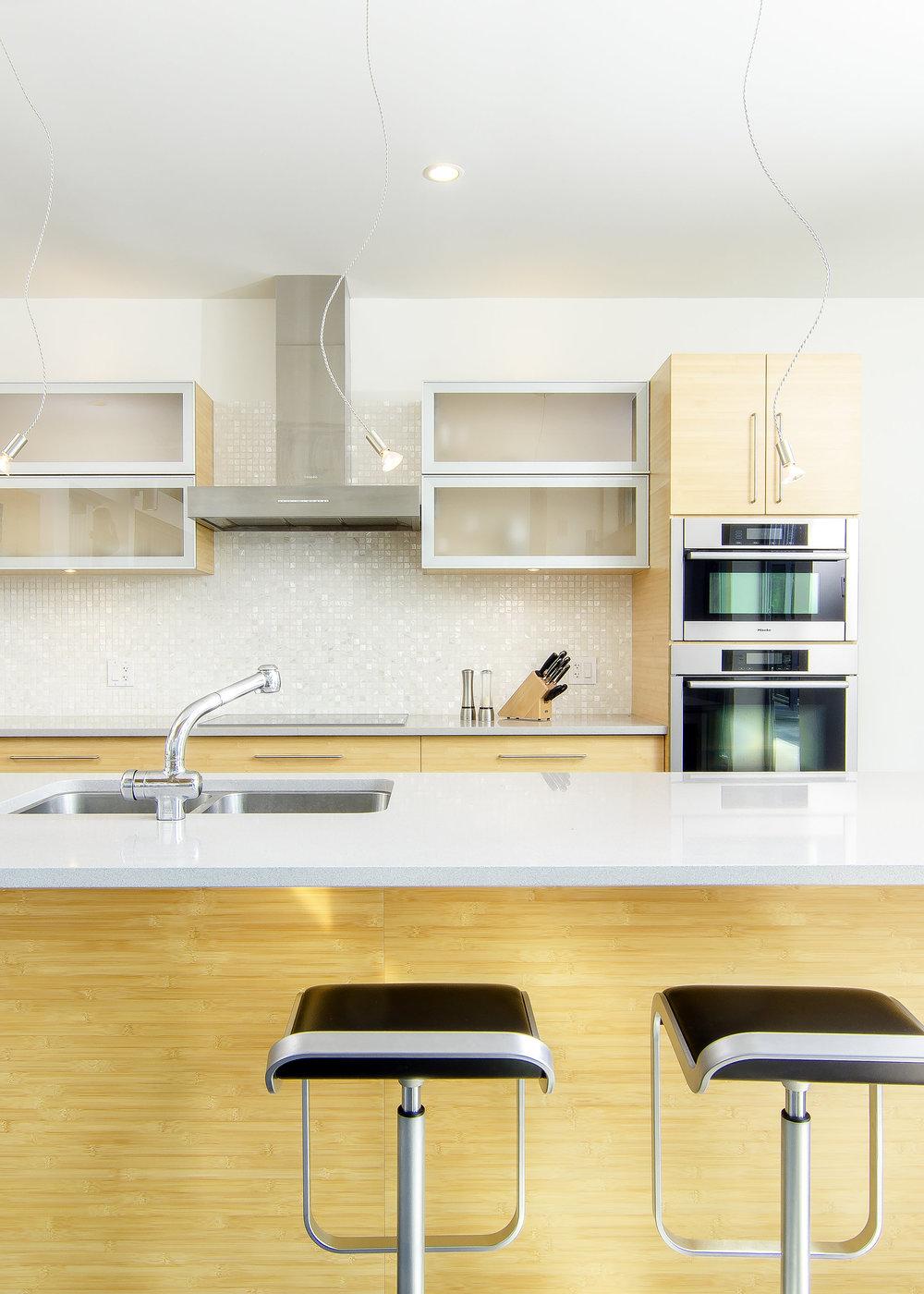Residential kitchen in Gulf Island Private architectural home design