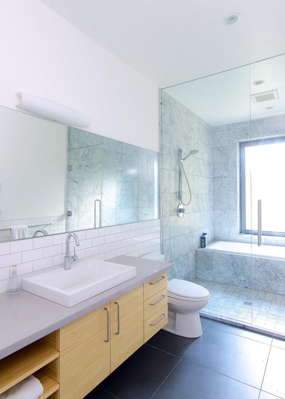Residential bathroom interior design in Gulf Island Private architectural home design