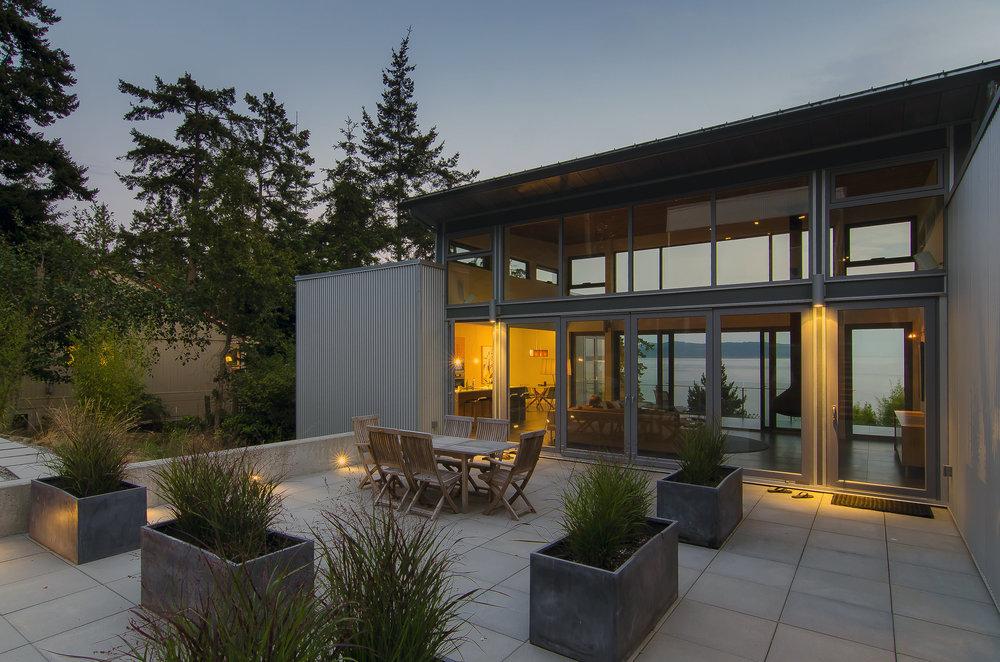 Residential architectural design Gulf Island Private home