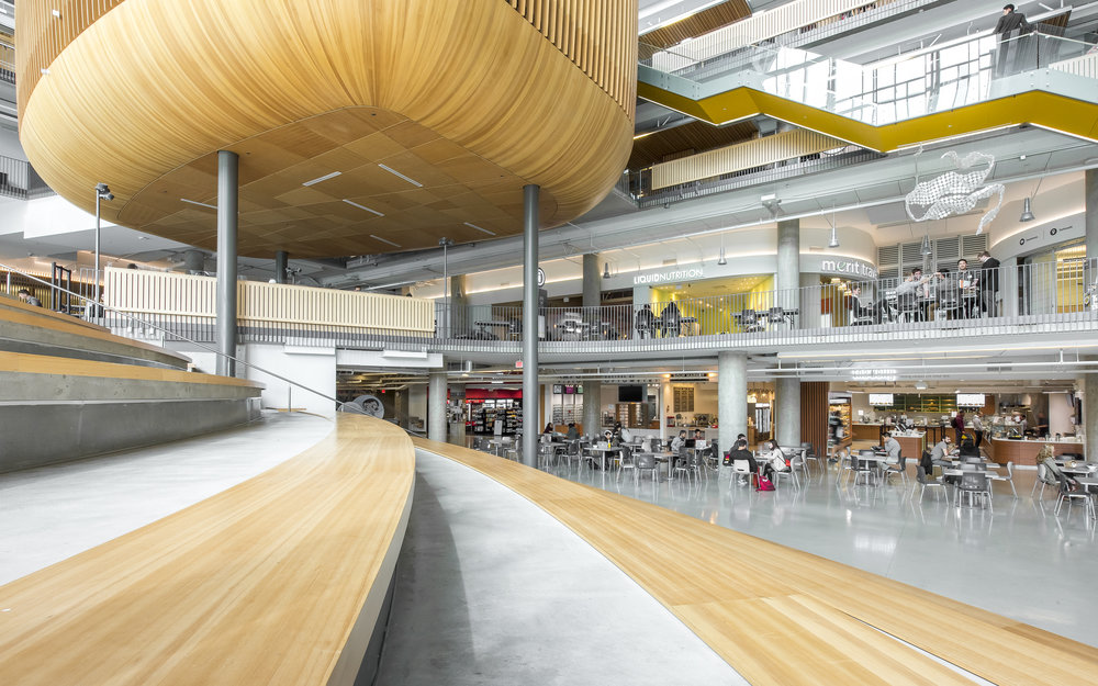 UBC Nest atrium amphitheatre by Dialog