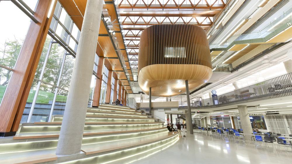 UBC Nest interior atrium by Dialog