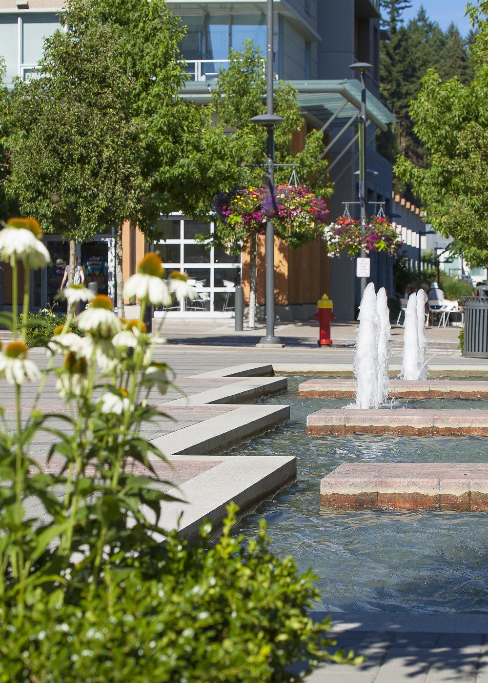 UBC Wesbrook Village water feature