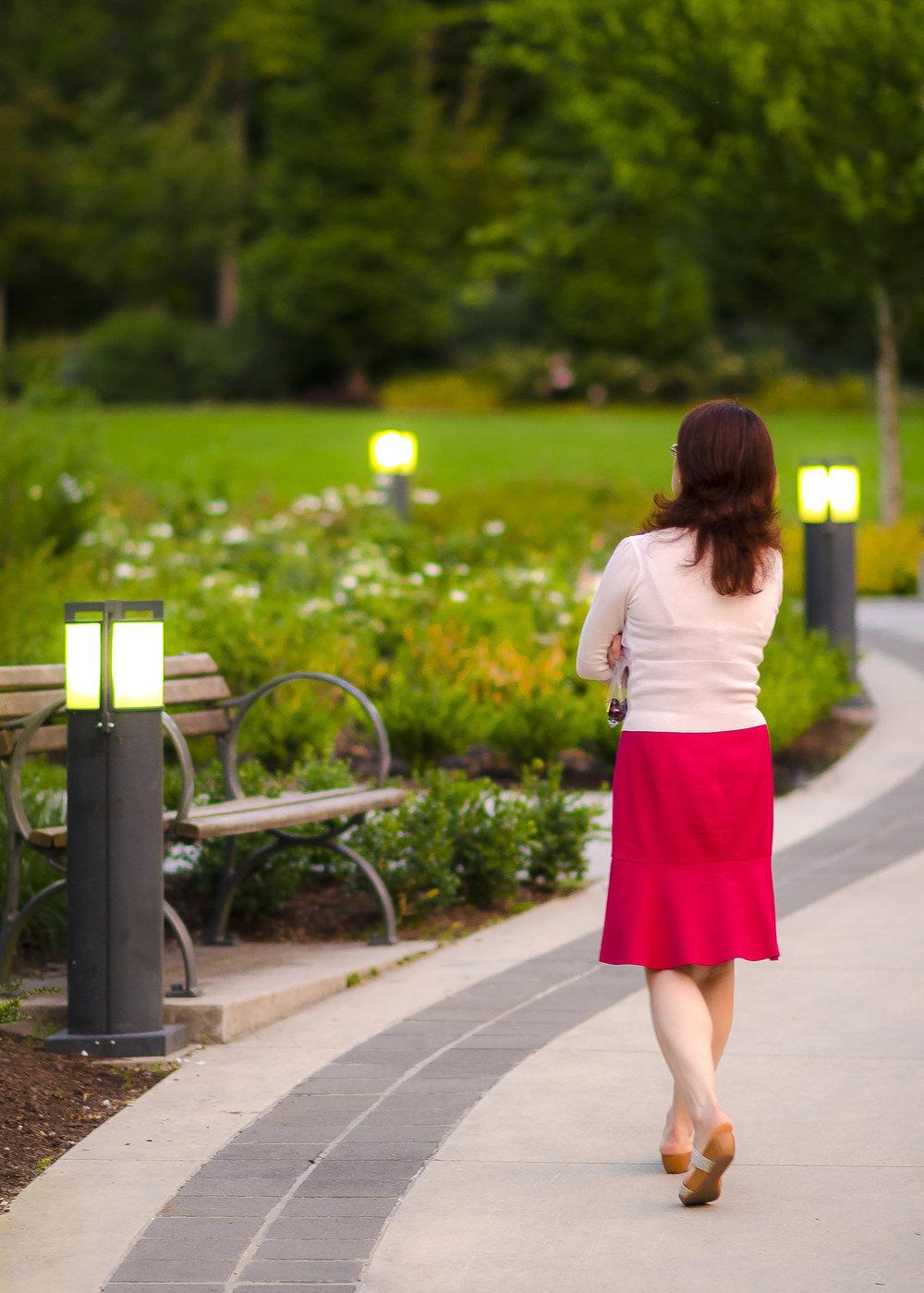UBC Wesbrook Village Khorana Park pathway