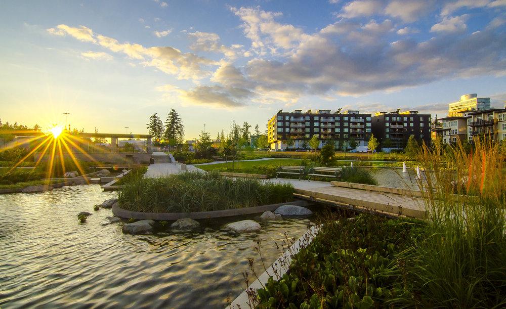 Mundell Park UBC Wesbrook Village Sunset