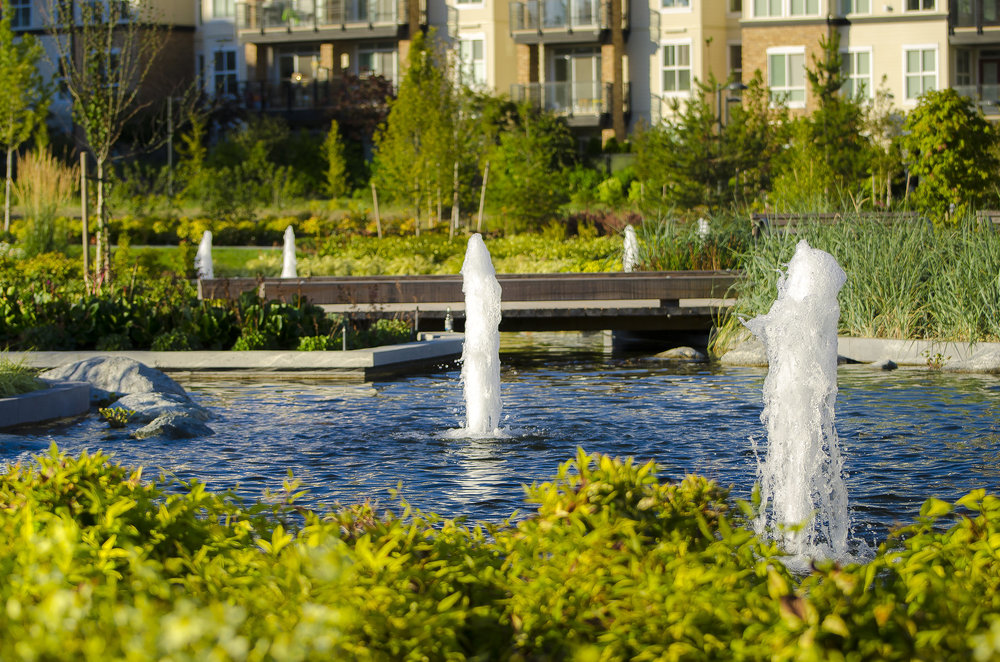 Mundell Park UBC Wesbrook Village Fountains