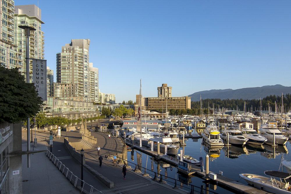 Coal Harbour seawall Vancouver