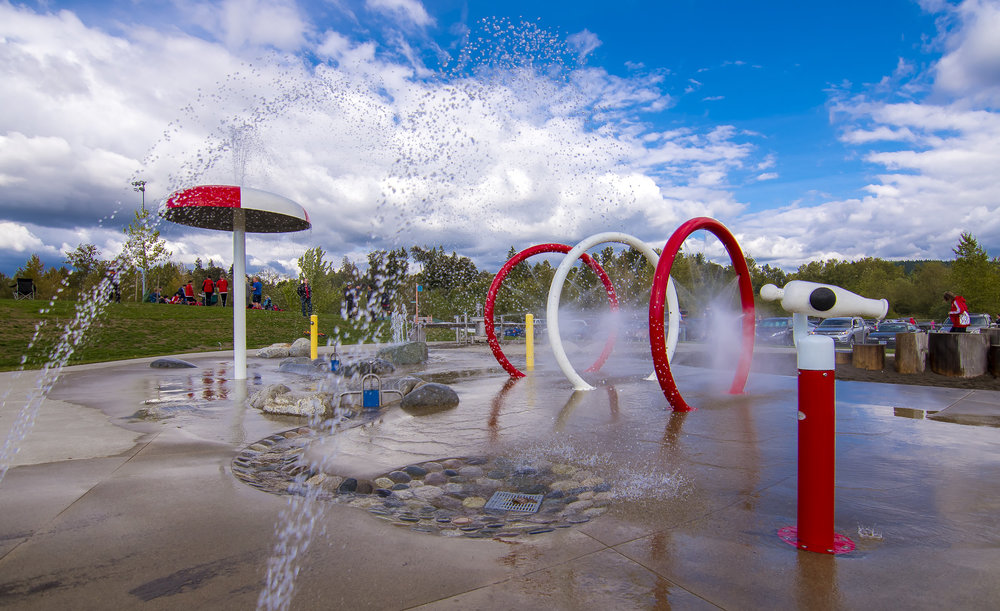Albion water spray park