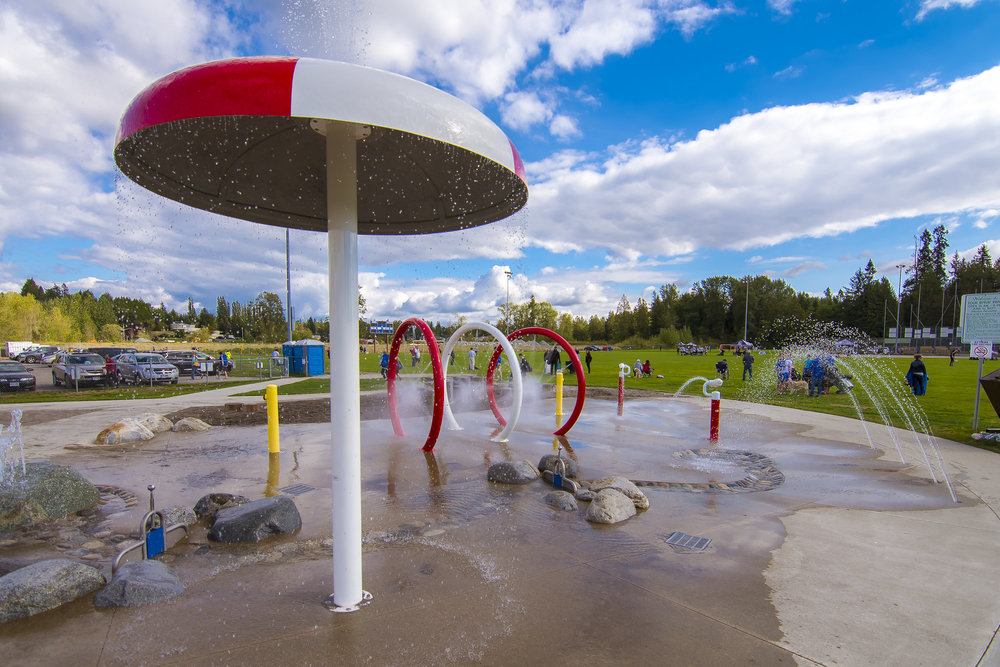 Splash park in Metro Vancouver
