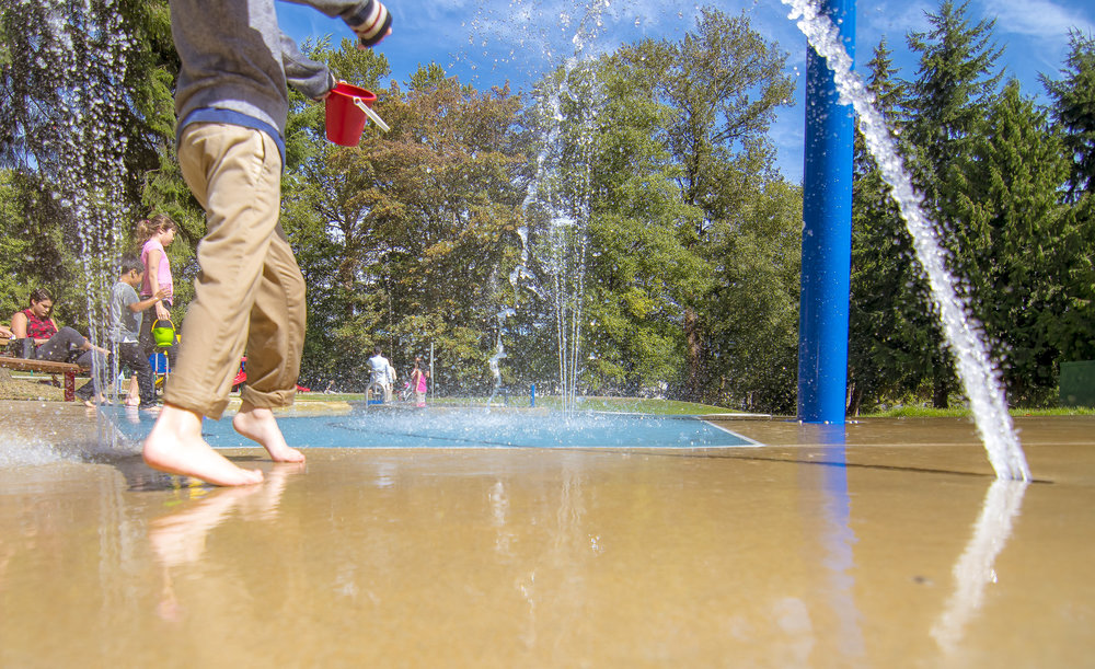 Suncrest Splash park in Vancouver