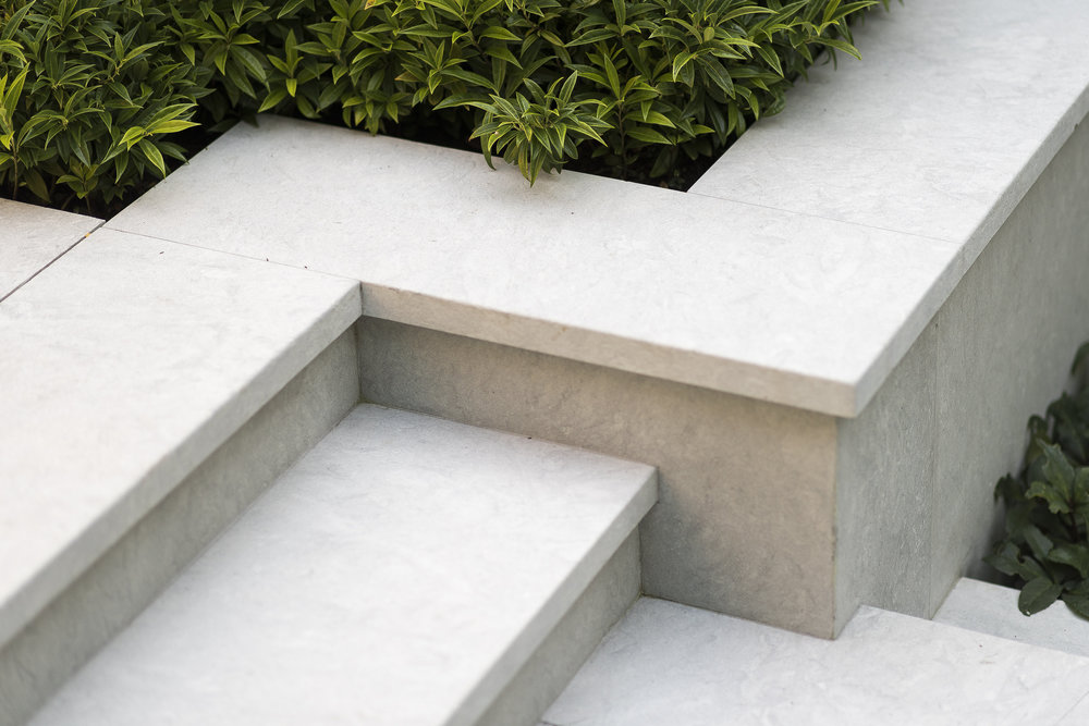 Concrete stair detail in Vancouver garden