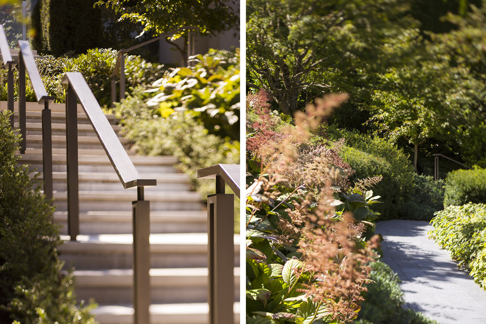 Vancouver residential landscape architecture home and garden design by Paul Sangha Geometric Contrasts