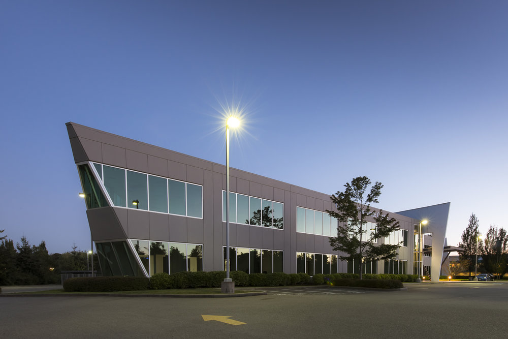 Glenlyon Business Park architecture and landscape architecture designed by PFS Studio