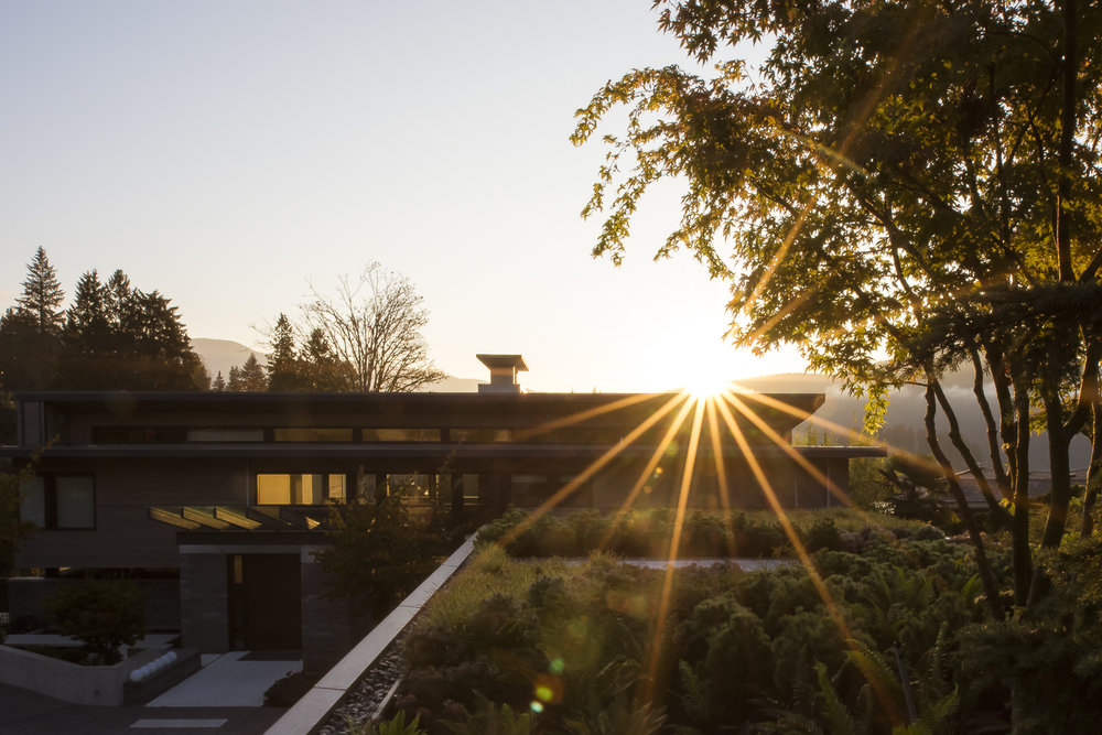 Vancouver waterfront residence at sunrise landscape architecture