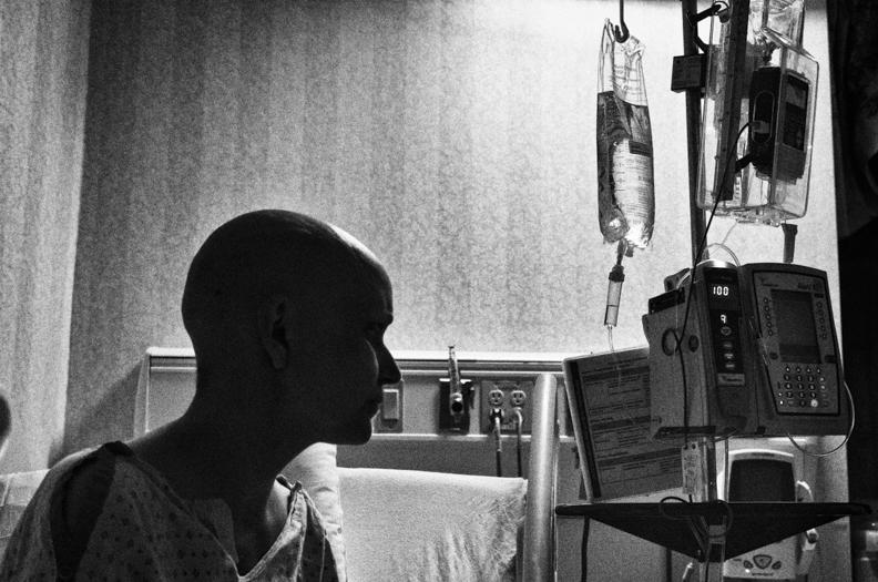 Jen in hospital room at night.jpg