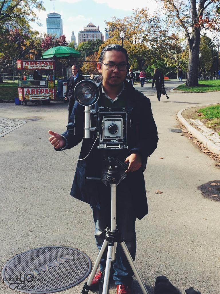 Met another film shooter at the Boston Commons while walking around the city.