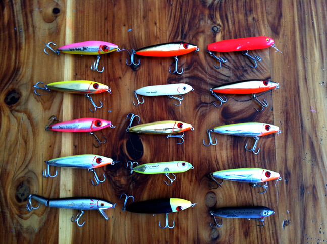 Selection of topwater plugs with a proven track record over the years. About to updated with new single hooks.