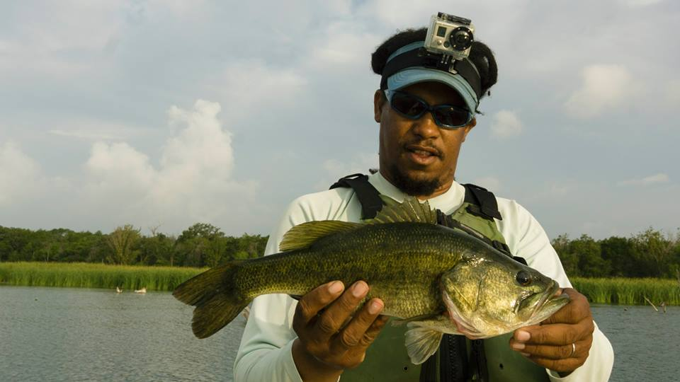 "Alvin with a Bastrop ""deer hair crushing"" bass"