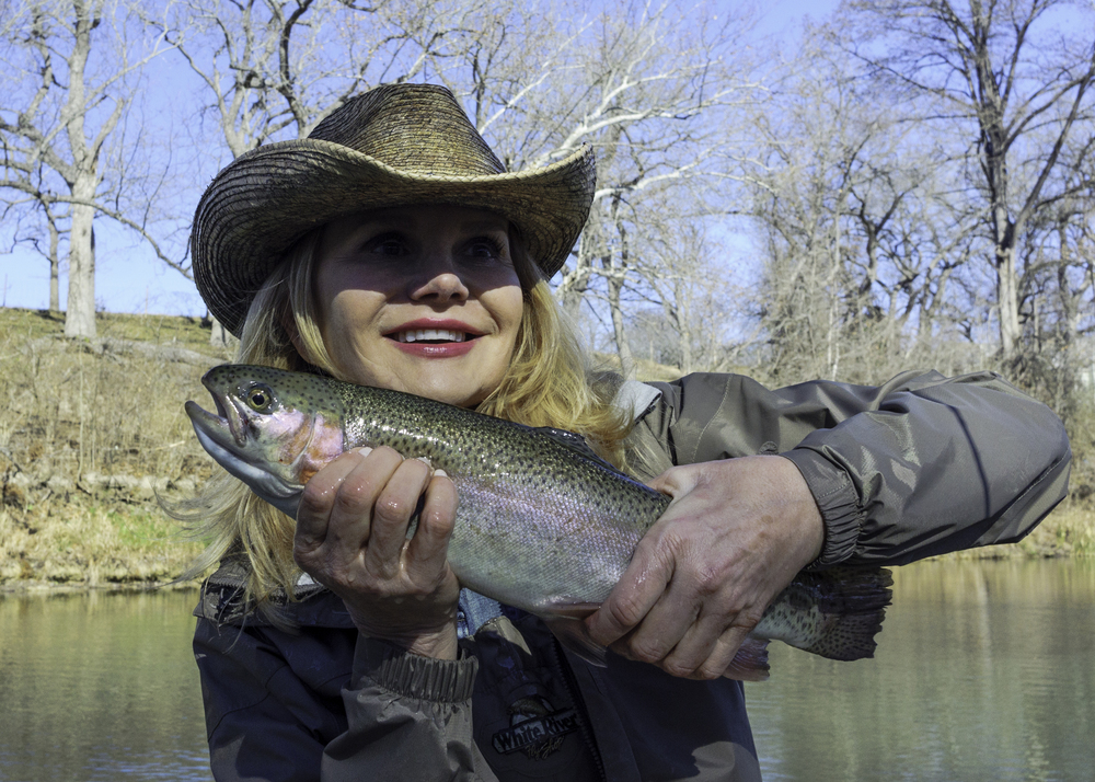 Diane with a Guadalupe Trout