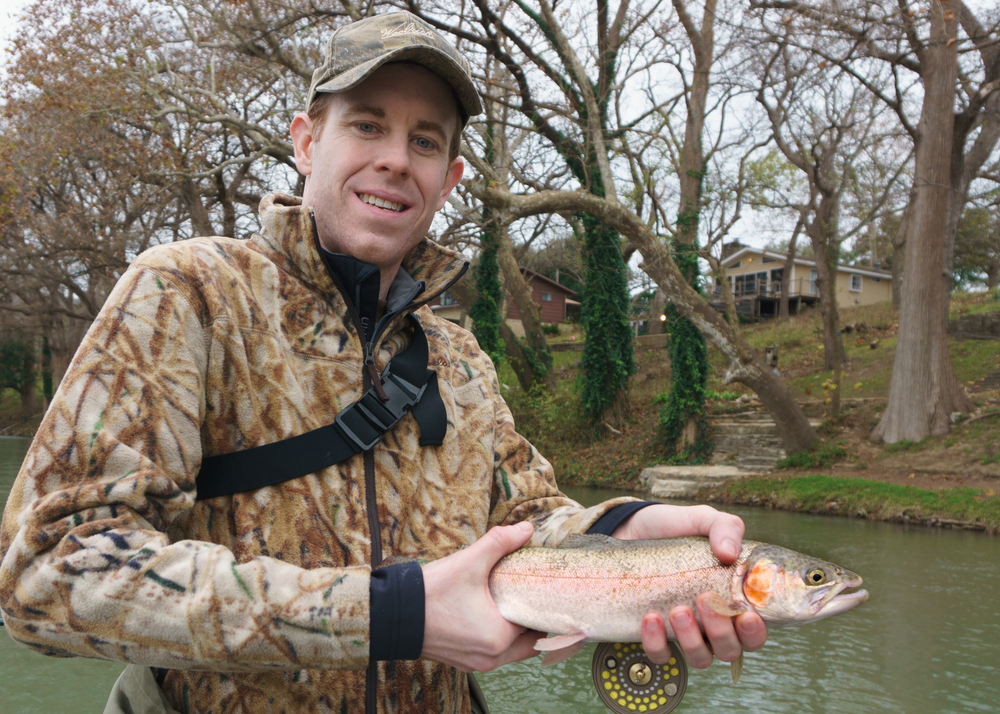 Andy with a GuaDALUPE rIVER rAINBOW