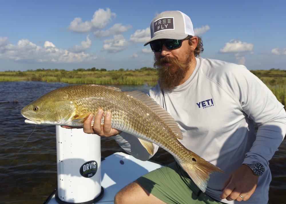 Joe With a Big Texas Redfish