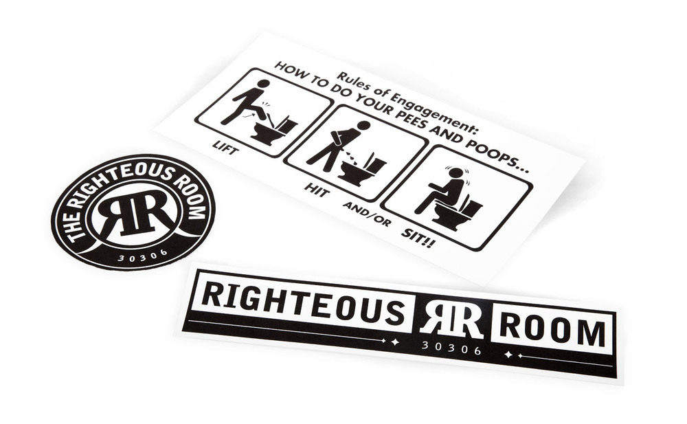 {  righteous room vinyl stickers  }      /      photographer: luke allerdice