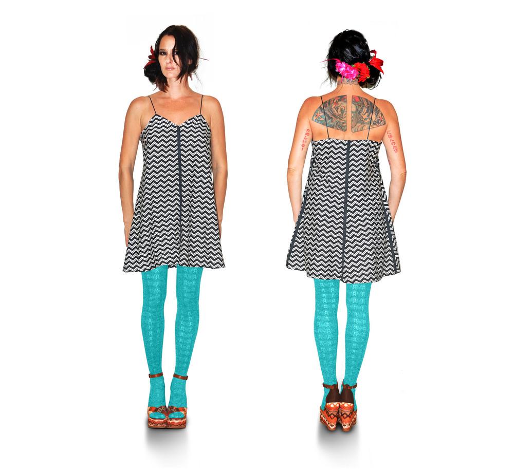 { chevron tent dress } design + construction / 100% cotton