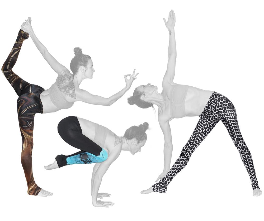 {  custom made yoga leggings } design + construction / nylon + lycra blend