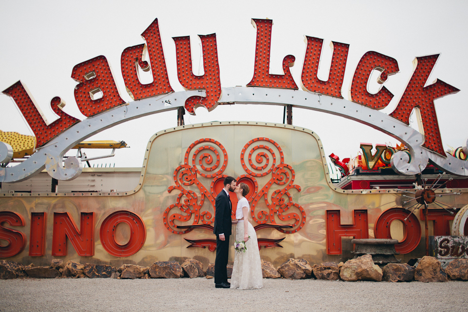 neon boneyard elopement photography