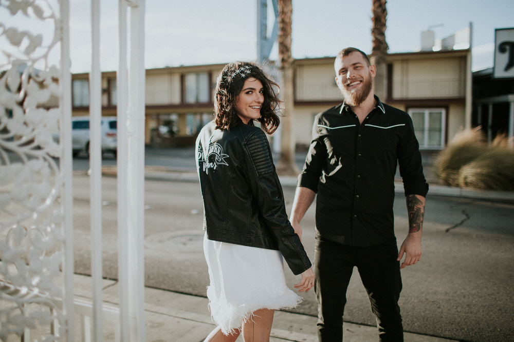 Leather jacket wedding