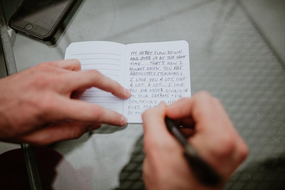 hand written vows