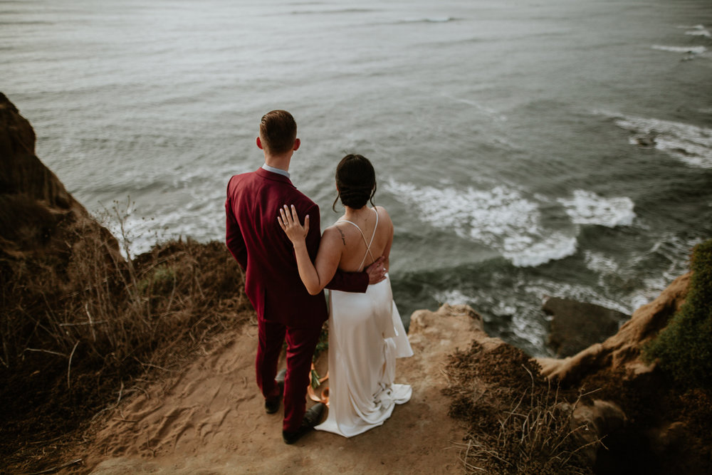 cliffside wedding
