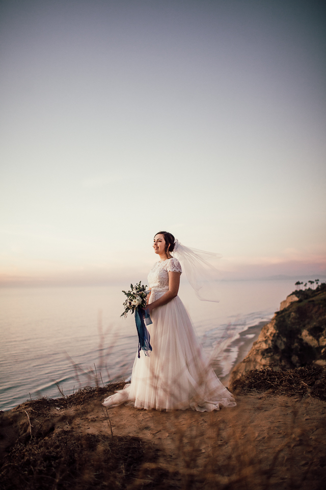 San diego cliff elopement